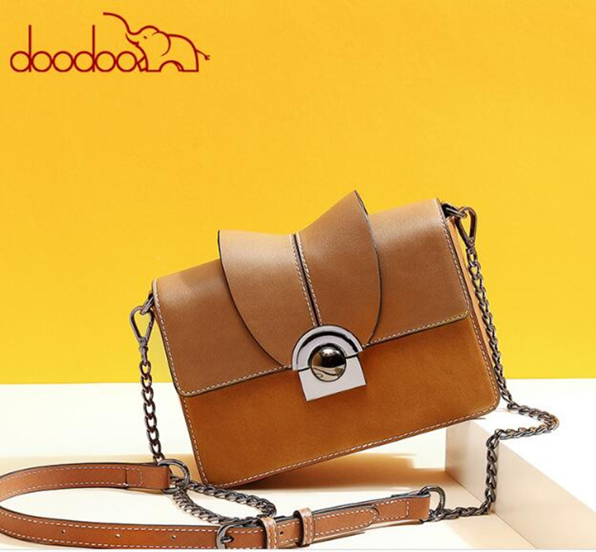 DOODOO Luxury Designer Women Vintage Messenger Bag Falp Handbags Small Female Chain Shoulder Crossbody Bags famous brands FR624 miwind f graffiti istitching chain messenger chain bag women s premium lady oblique crossbody shoulder bags famous brands c c