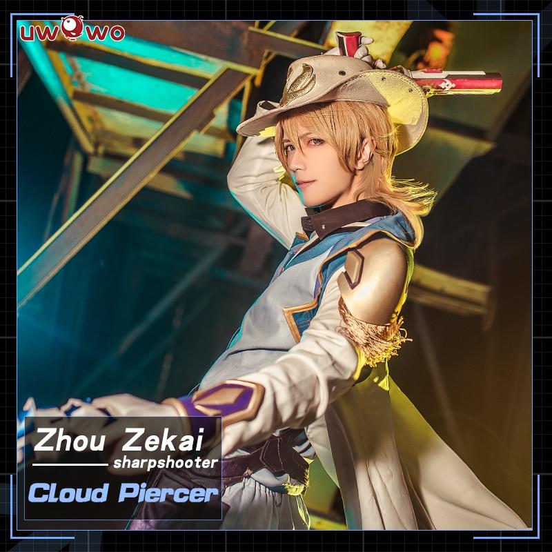 UWOWO Cloud Piercer Cosplay The King's Avatar Costume Zhou Zekai SHARPSHOOTER Quan Zhi Gao Shou Costume Men