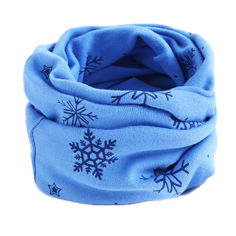 Осенне-зимний детский хлопковый шарф для девочек и мальчиков теплые шарфы Детский круглый кольцевой ошейник Детский шарф детский волшебный шейный платок - Цвет: blue snow