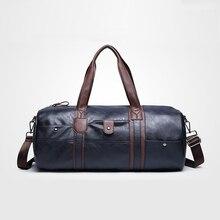 New Arrival Men s Pu Leather Handbag Shoulder Bag Multifunction Portable Sports Travel Gym Fitness Bag
