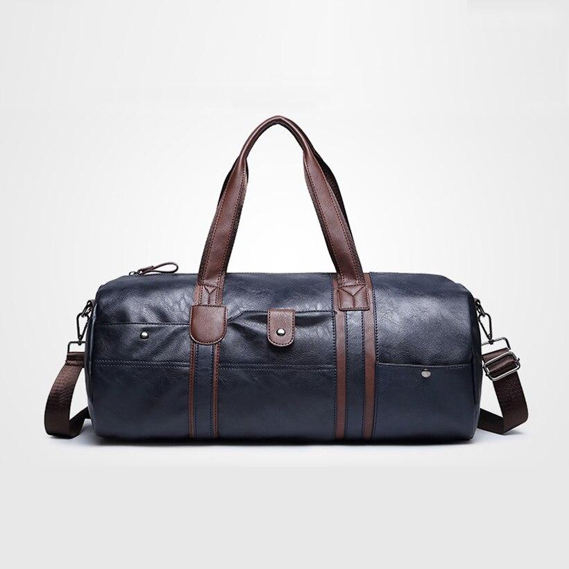 New Arrival Men s Pu Leather Handbag Shoulder Bag Multifunction Portable Sports Travel Gym font b