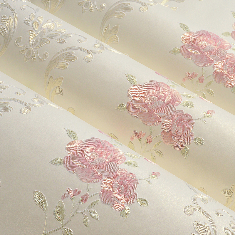 European Style Non-Woven Wallpaper 3D Stereo Relief Damascus Bedroom Living Room Wedding House Backdrop Wall Paper 3D Home Decor