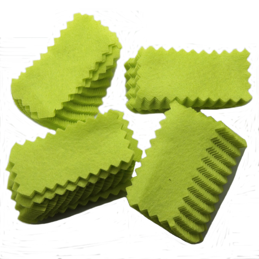 100Pcs Gun Cleaning Patches Green For Pistol & Rifle Colth High Quality Gun Cleaning Kits 3 * 1.5
