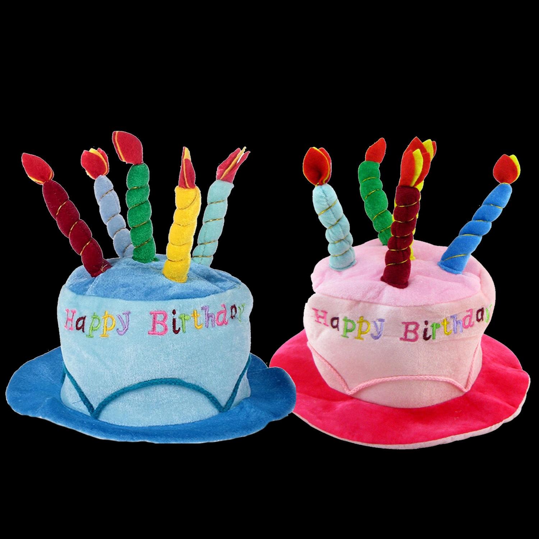 Adultes mignon joyeux anniversaire chapeau avec des bougies de gâteau doux fête d'anniversaire chapeau photographie Photo stand décoration accessoires de costumes