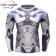 Iron man 3D Printed T shirts Men Compression Shirt 2017 Skeleton Cosplay Costume Long Sleeve Tops Male Crossfit Fitness Cloth