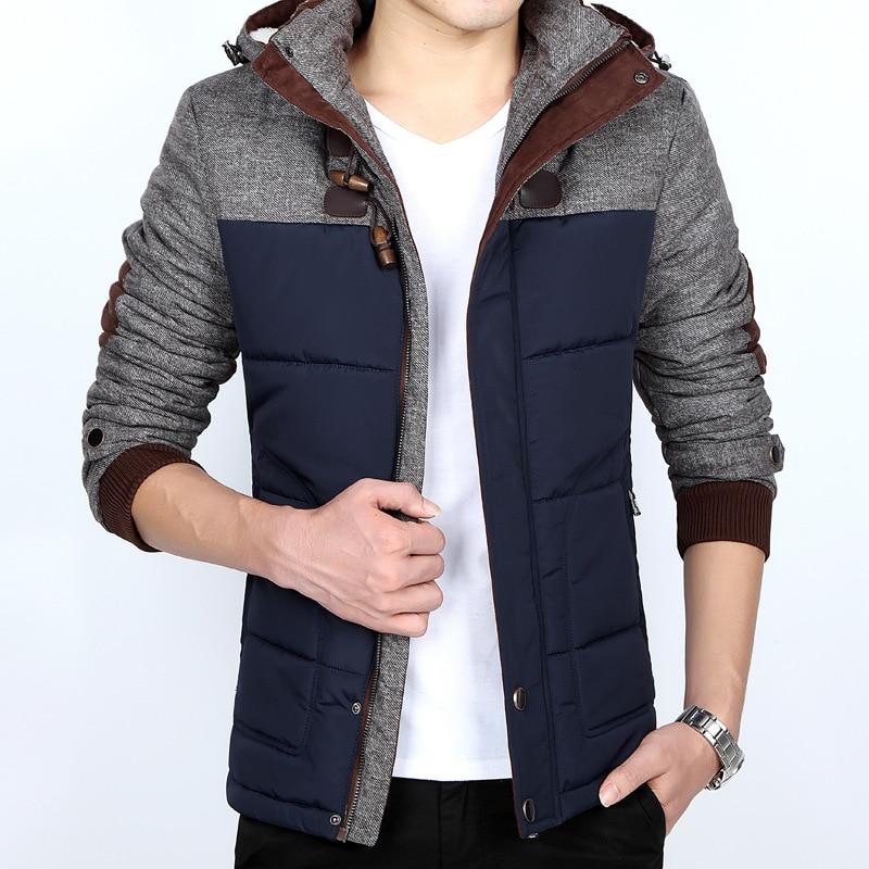 New <font><b>Mens</b></font> <font><b>Hooded</b></font> Wool Coat 2016 Autumn Winter <font><b>Hot</b></font> <font><b>Sale</b></font> Thick Sportswear Warm Cashmere Cotton-padded Clothes Plus Size M - 5XL D5