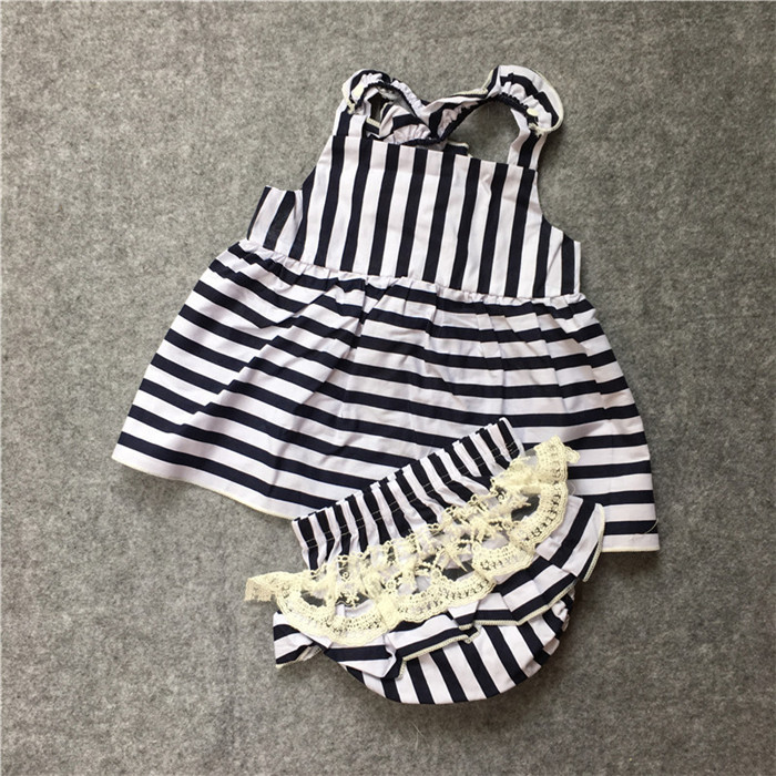 924faf615074 2017 summer baby girls dress + Briefs 2pcs suit cute baby girl ...
