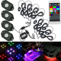 4/8PCS Car Pod Wireless Bluetooth/ Remote Controller RGB Car LED Rock Under Boby Light for Offroad Jeep