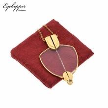 NR003 eyepper plegable lectura colgante de gafas collar Mini lectores gafas