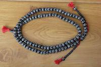 ML184 Ethnic Tibetan 108 Craved Yak Bone Beads Mala Handmade Nepal 11mm 5mm Bone Beaded Prayer