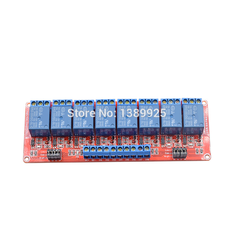 Brand New 5V 8 Channel Relay Module With Isolated Support High And Low Level Trigger High Quality