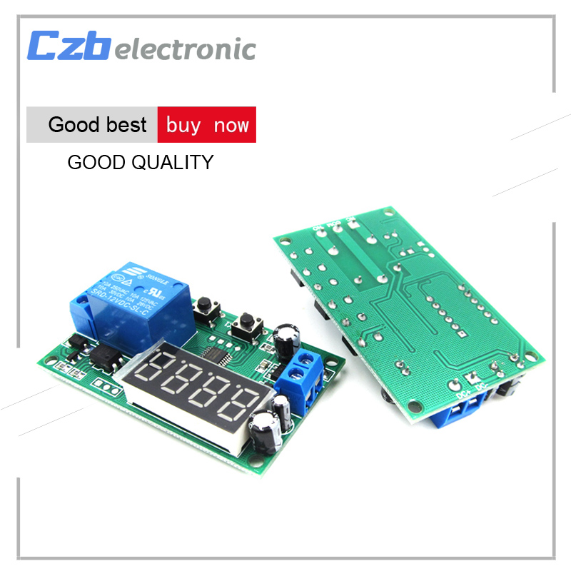 DC 12V LED Display Digital Delay Timer Control Switch Module PLC Automation TOP ...