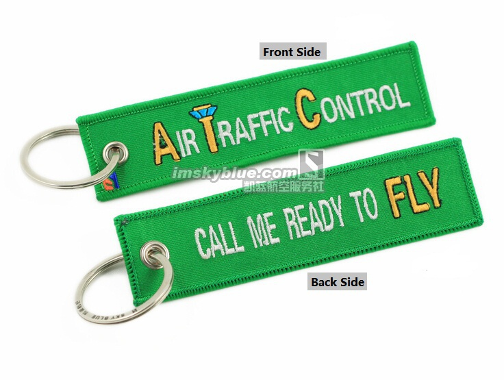 Creative Green ATC Bag Tag Key Ring  Air Traffic Control Call me Ready to Fly  Best Gift for Flight Crew Aviation Lover Pilot sd 2210 car static electricity eliminator key ring green silver