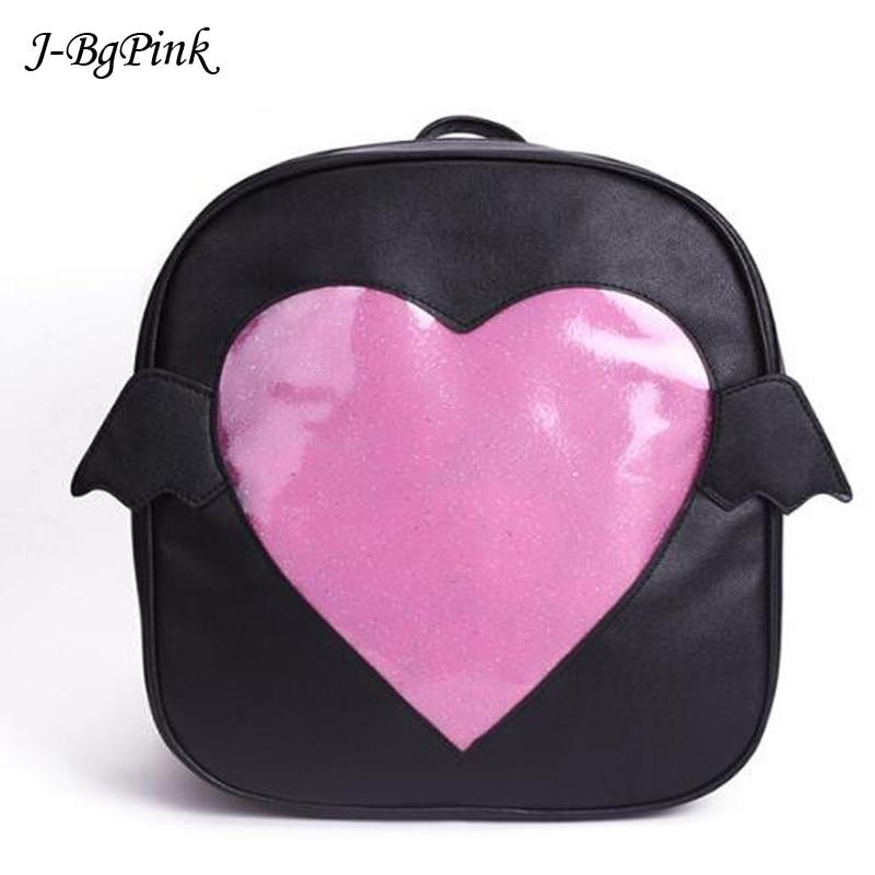Gepäck & Taschen Rosa Ita-tasche Glitter Klar Klappe Flügel Rucksack Japan Harajuku Mädchen Kawaii Bling Transparent Liebe Schule Tasche Geschenk Einfach Zu Schmieren Rucksäcke