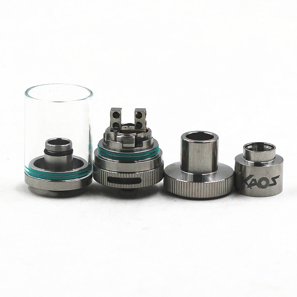 VCMT Airflow Control 25mm RTA Mega Vapor Tank SS/Black For Mechanical Box Mod Vaporizer Taifun Kayfun Velocity Style