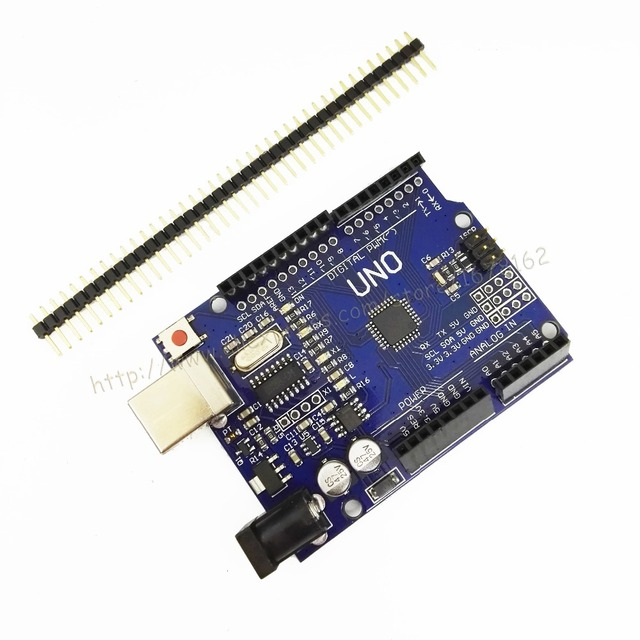 Free shipping 1 pcs UNO R3 MEGA328P CH340G for Arduino compatible no USB cable high quality