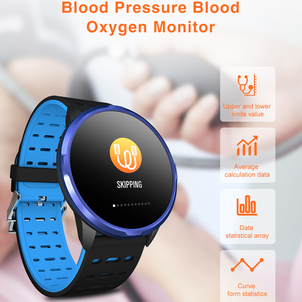 """Image 3 - Virtoba CN88 Smart Watch 1.3"""" Color Display Activity Fitness Tracker Blood Oxygen Blood Pressure BRIM Men Women Smartwatch PKV11-in Smart Watches from Consumer Electronics"""