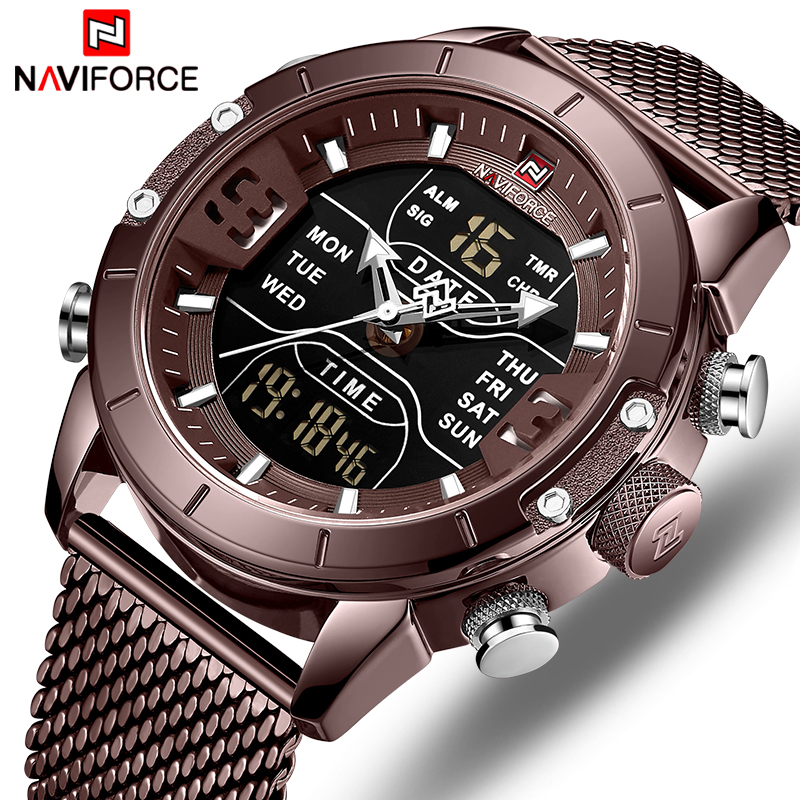 New NAVIFORCE Men Watches Top Luxury Brand Men Sport Watch Quartz Digital Clock Male Waterproof Wristwatches Relogio Masculino