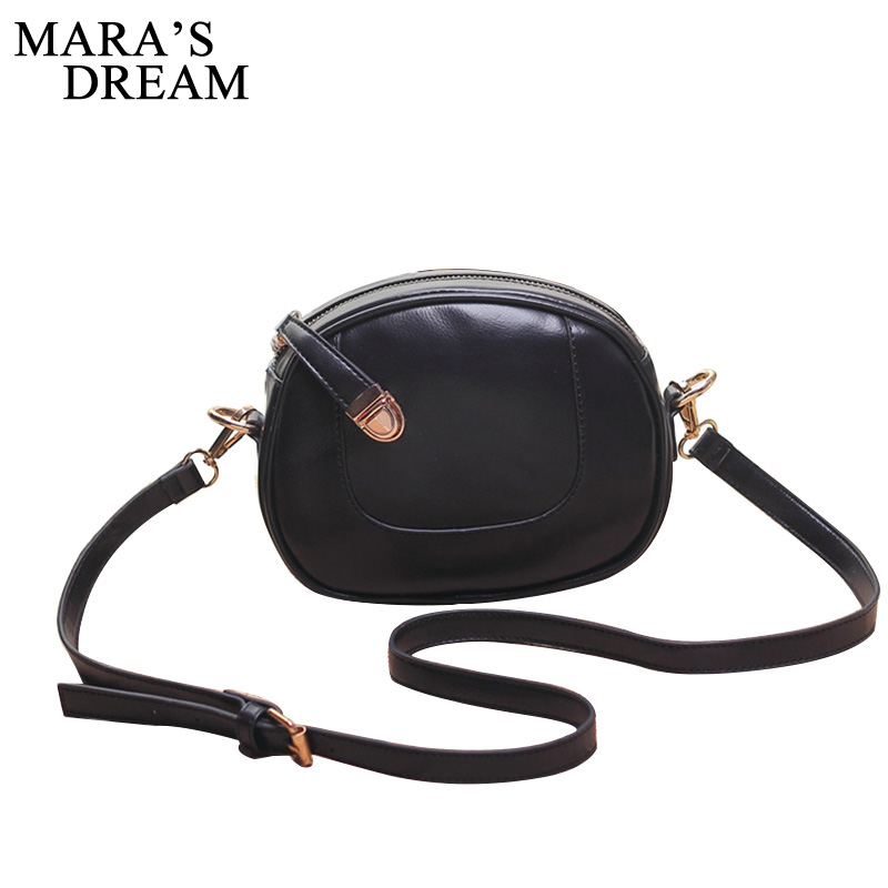 Maras Dream Round Women Bag PU Leather Women Crossbody Bags Girls Shoulder Bag Ladies Cute Circular Women Messenger Bags Summer