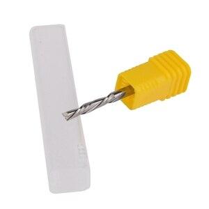Image 5 - 5 pcs 3.175mm X 17mm thuận tay trái 2 bit sáo xoắn ốc, Xuống Cut carbide endmill, thuận Tay trái xoắn ốc cắt