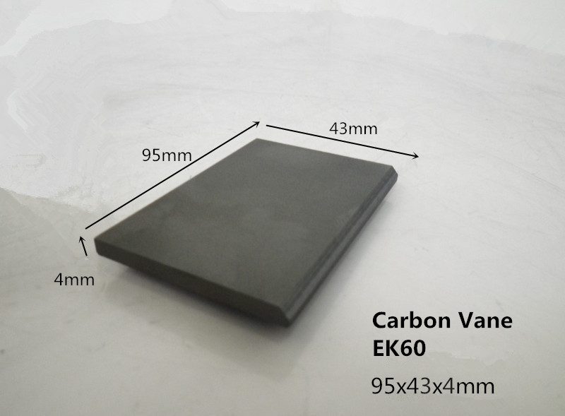 95x43x4mm EK60 graphite vane for Becker VT4.40 vacuum pump /graphite plate for becker vanes pumps цена