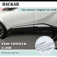Backar Car Styling Bumper Anti collision Strip Door Side Protective Trim Stickers For Toyota CHR C HR 2018 2017 2016 Accessories