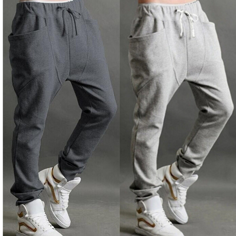 Sweatpants Brand Overalls Trousers Multi-Pocket-Pants Elastic-Waist Mens Joggers Hip-Streetwear