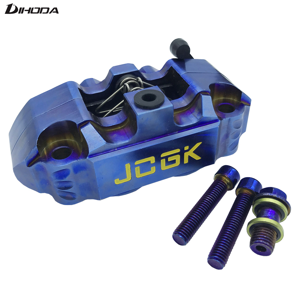 Universal modification electric motorcycle Burning Blue four piston 82mm brake calipers pump For WISP RSZ YAMAHA small radiation changchai 4l68 engine parts the set of piston piston rings piston pins