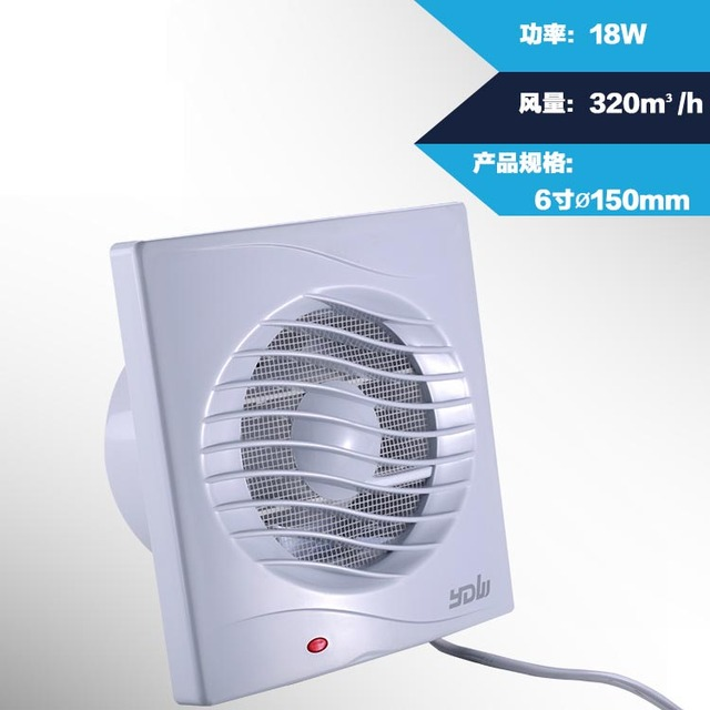 Kitchen Exhaust Fan 4 5 6 Inch Low Noise Bedroom Dining Room