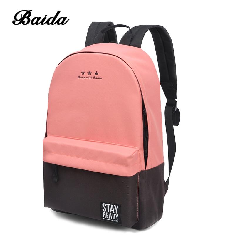 Moda Mochila Mulheres Lazer Mochila Coreano Senhoras Knapsack Bagpack Casuais Sacos de Viagem para a Escola Meninas Adolescentes Clássico