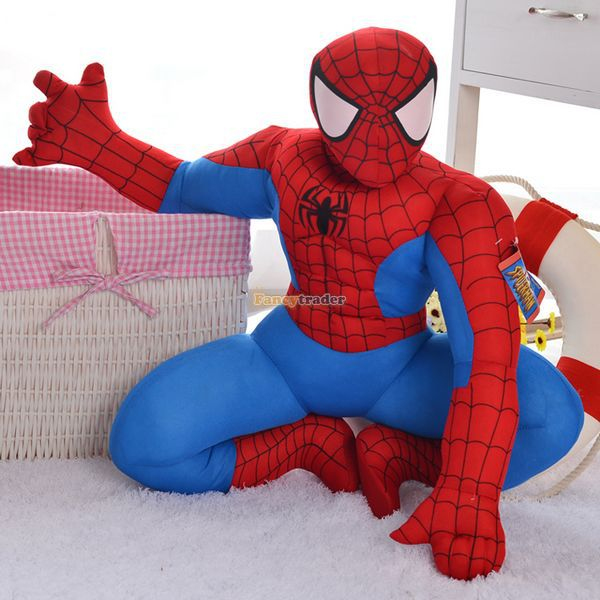 ФОТО Fancytrader 24'' / 60cm Giant Plush Stuffed Squatting Spiderman, Spider-Man Toy, Nice Gift For Kids, Free Shipping FT50203