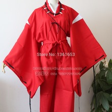 Japan Anime Inuyasha Cosplay Costume Bright Red Uniform party clothes gift for halloween costumes for women and man
