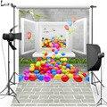 MEHOFOTO красочный Виниловый фон для фотосъемки с воздушным шаром для свадебной фотосъемки Новый тканевый фланелевый фон для фотостудии 2431