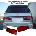 Novo Carro Luzes de Freio Da Cauda Estacionamento Aviso LED 2X Red Rear Bumper Refletores de Luz do Refletor Da Lâmpada para Toyota Estima