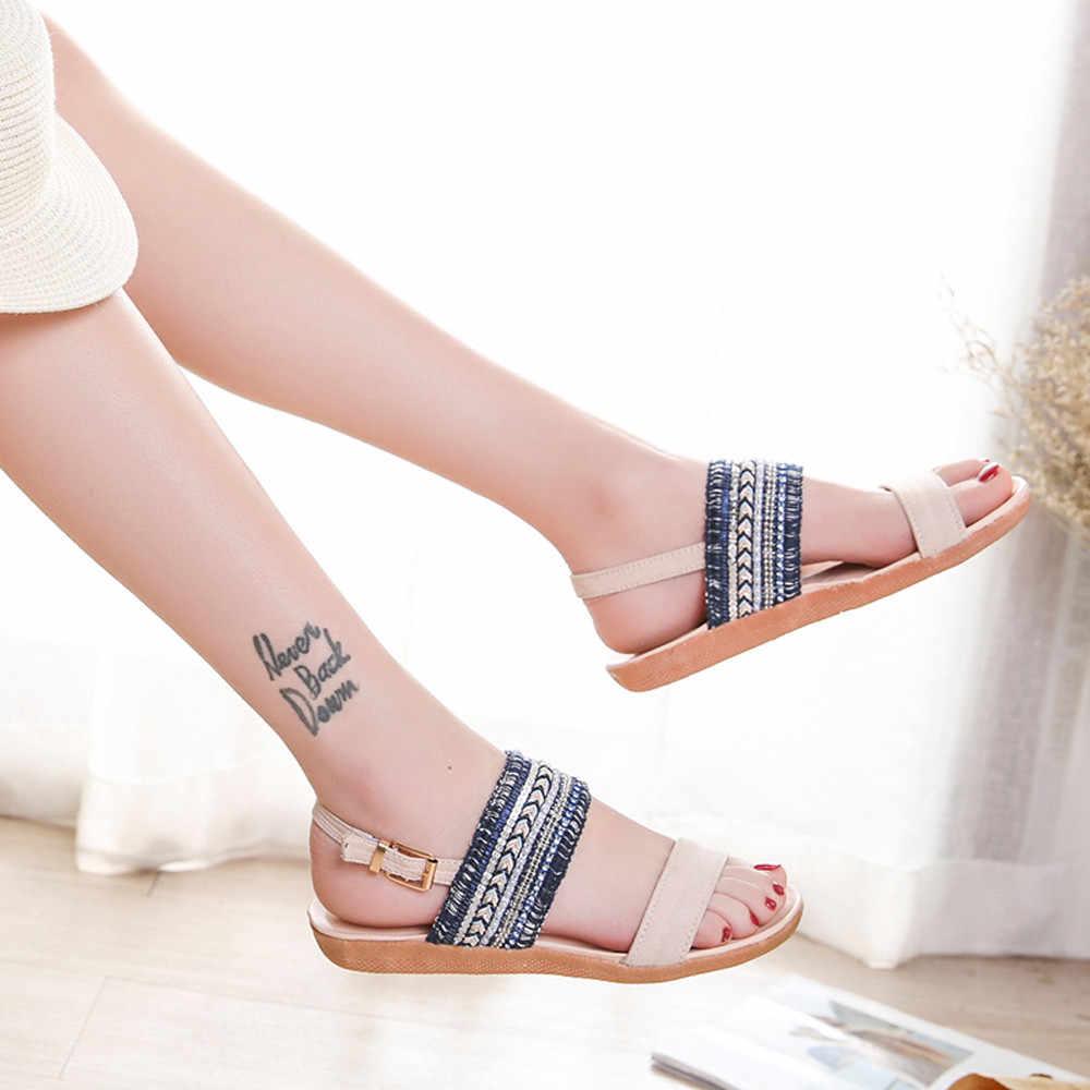 Sapatos mulher sandálias de salto alto sandálias femininas plana sapatos casuais sandálias de verão das mulheres 2019 sapatos de verão plataforma genuína