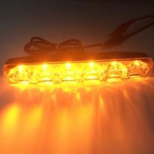 цена на 2Pcs Sequential Flowing Yellow LED Daytime Running Light  Light Super Bright LED DRL Car Turn Signal Strip Light Auto Angel Eyes