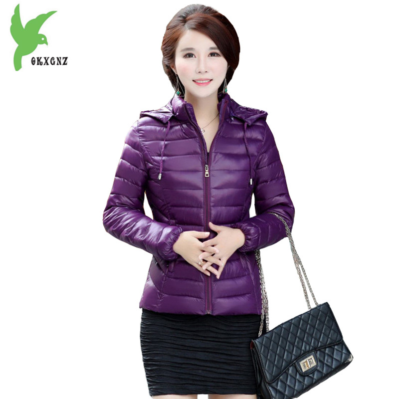 Winter Women Down Cotton Costume New Fashion Hooded Mother Warm Casual Wear Short Jacket Plus Size Slim Outerwear Coat OKXGNZ815 2017 winter women plus size in the elderly mother loaded cotton coat jacket casual thickening warm cotton jacket coat women 328