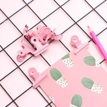10 шт./компл. креативные зажимы милые розовые металлические зажимы офисные аксессуары Бумага клипы фото клипы