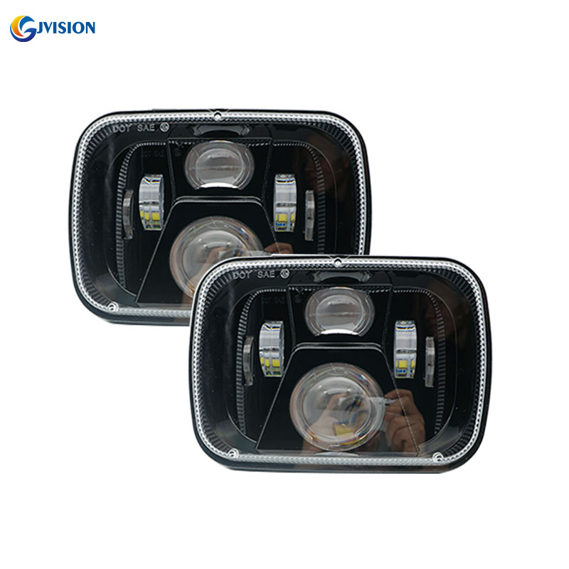 5x7 Inch Led Headlight Square 55w Projector Sealed Beam