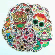 50PCS/bag Retro skull head Style Stickers toy Graffiti Travel Funny JDM DIY Sticker on Suitcase Laptop Bicycle Skateboard(China)