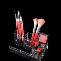 18 7 9 8 7cmTransparent Acrylic Makeup Brush Bucket Multi Lattice Storage Box Dresser Eyebrow Pencil