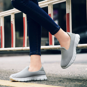 Image 3 - MWY Summer Women Sneakers Mesh Flats Shoes Comfortable Driving Shoes Basic Outwear Slip On Femail Casual Shoes tenis feminino