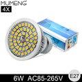 MUMENG E27 LED Spotlight Bulb 48pcs SMD2835 Lampara 6W 12V Ampoule Energy Saving Bombillas Led For Downlight 4X