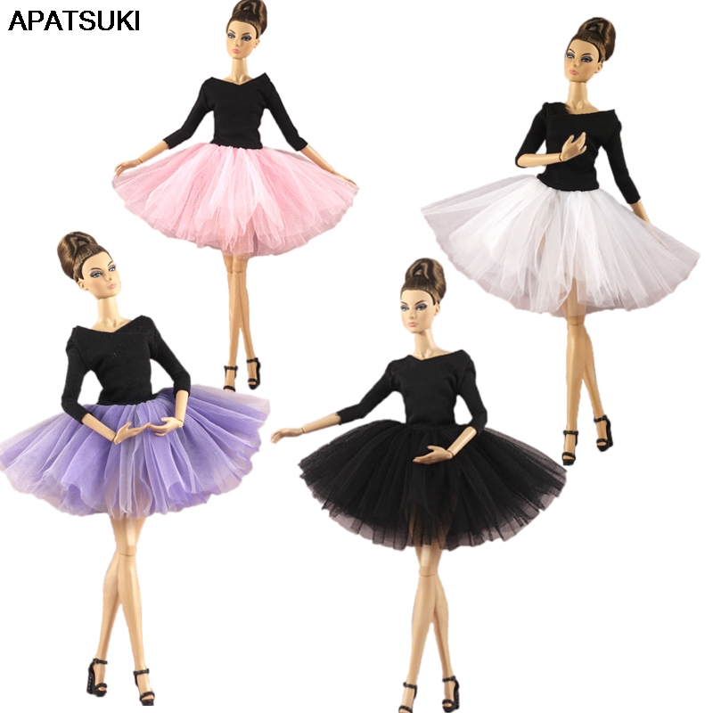 Elegant Ballet Dress For Barbie Doll Outfits Clothes Party Dresses Tutu Dress Clothes For Barbie Doll 1/6 Dolls Accessories
