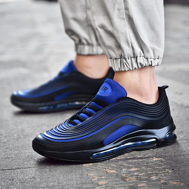 Спортивная обувь для мужчин 2018 летние новые мужские кроссовки со шнуровкой низкий верх беговые кроссовки Мужская Спортивная обувь дышащая