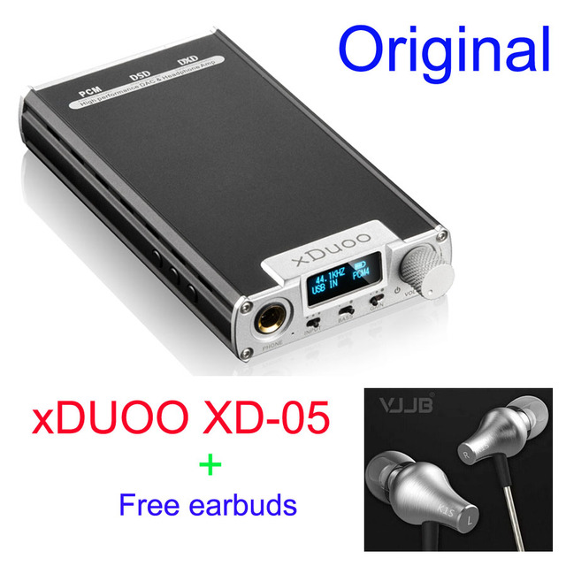 XDuoo XD-05 Portable Audio DAC & Headphone AMP support native DSD decoding 32bit/384khz HD OLED display with Free VJJB Earbud
