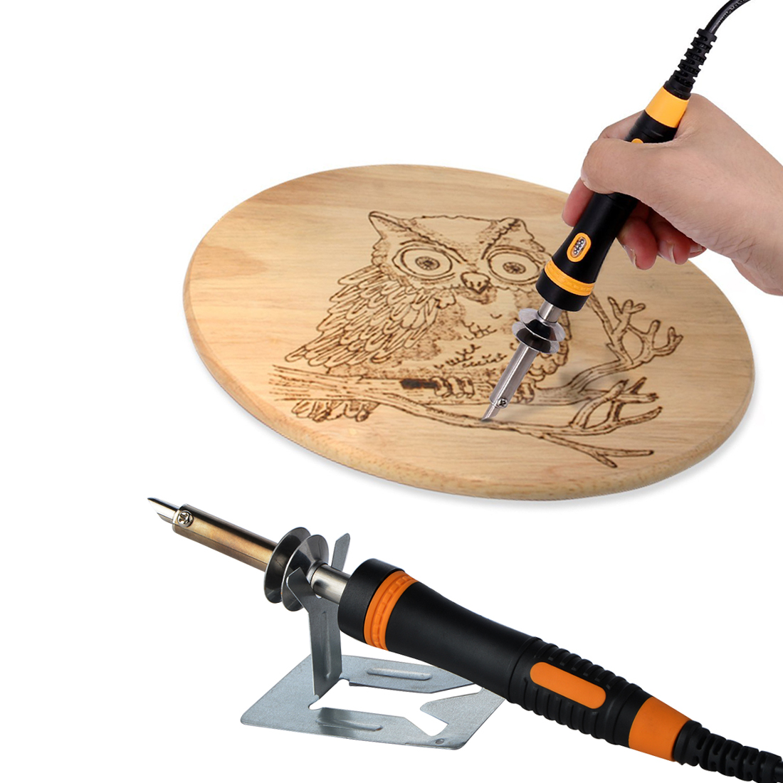 220V 30W Soldering Iron Carving Pyrography Tool Wood Working Burning Pen Welding Tips