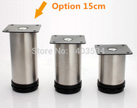 2pcs 15cm Height Stainless Cabinet Leg Sofa Leg