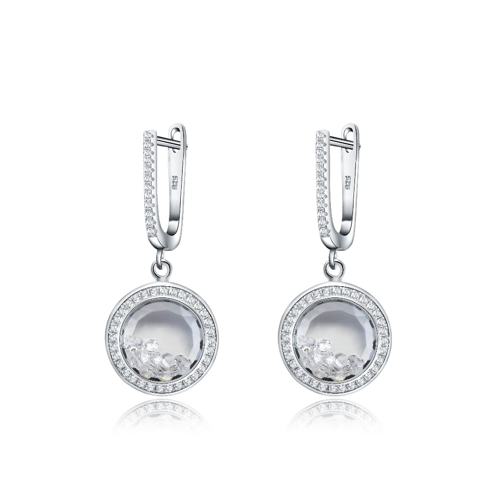 Inventive Drop Dangle Earrings Sterling Silver Plated Crystal Rhinestone Women Jewelry Jewelry & Watches