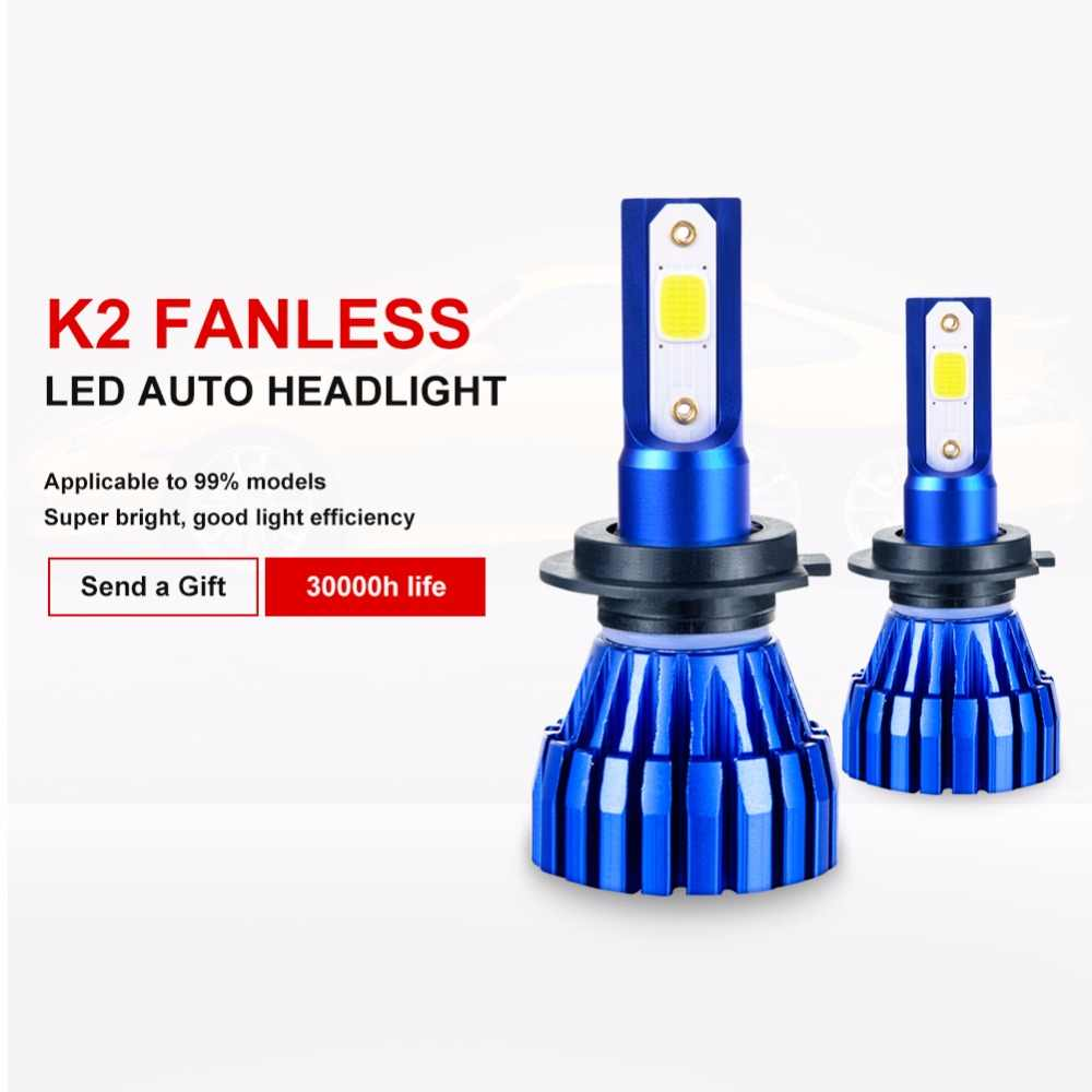 Led H7 H4 H1 H3 H11 H8 H9 9005 HB3 9006 HB4 Auto Led Light 72W 8000lm Automobiles Car Headlight Bulb Lamp 6500k 12V 24V Headlamp